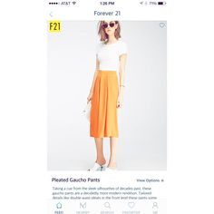 """minerapp on Instagram: """"#NowTrendingOnMiner These orange Pleated Gaucho Pants need to be in your closet"""""""