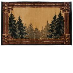 Goods Of The Woods Forest Trail Ii Rectangular Rug 11020 Hearth Rugsrectangular