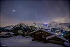 Eiger, Mönch and Jungfrau, the three kings of Berner Oberland under the stars.