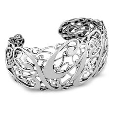 Carolyn Pollack Sterling Silver Signature Cuff Bracelet *** You can find out more details at the link of the image. #WomensJewelry