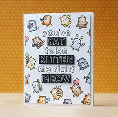 Mama Elephant-Hollow Letters & Little Cat Agenda Card by Laura Bassen