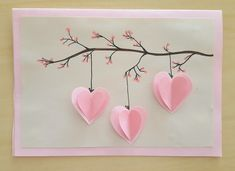 Äitienpäiväkortti Crafts For Teens, Hobbies And Crafts, Diy And Crafts, Paper Crafts, Valentine Crafts, Valentines, Happy Hearts Day, Classroom Crafts, Mothers Day Crafts