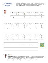 Lowercase q letter tracing worksheet, with easy-to-follow arrows showing the proper formation of the letter.
