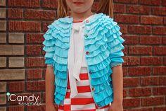Child's ruffled cardigan #tutorial... <3 this