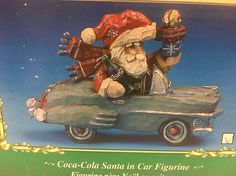 ✅ 1998 COCA-COLA CHRISTMAS VILLAGE SANTA IN A CAR FIGURINE BY KURT ADLER NIB | eBay