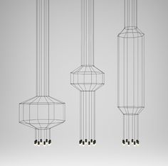 Wireflow, immaterial sculptural lights by Arik Levy for VIBIA #Lighting #MilanDesignWeek