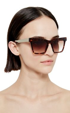 Tortoiseshell Cremaster Angular Unisex Sunglasses by Ellery Now Available on Moda Operandi......