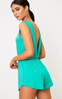 1ff2a795b060 Extra Off Coupon So Cheap PrettyLittleThing Bralee Green Basic Playsuit  Size 8 BB 02