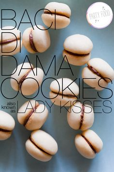 Baci di Dama (lady kisses) cookies - use Nutella for the filling instead. Also works with almond flour.