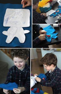 free easy sewing pattern for felt monster dolls