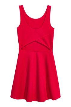 Jersey dress - Red - Ladies | H&M CA