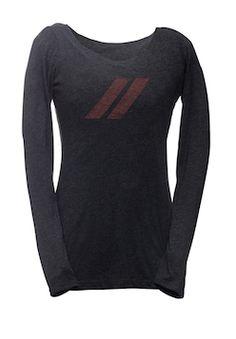 Ladies Dodge Stripes Scoop Neck T-Shirt