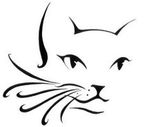 cute cat face with curly whiskers - Resultado de imagem para cat silhouette New Tattoos, Print Tattoos, Cool Tattoos, Black Cat Tattoos, Face Tattoos, Tattoo Black, Cat Silhouette Tattoos, Cat Outline, Doodle Drawing