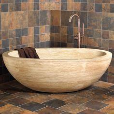 Fabulous Der neue Trend Ideen f r Wandpaneele mit Steinoptik WandverkleidungInspirierendGelassenheitTravertinMaster BadezimmerBad