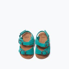 ZARA - MINI - BUCKLE DETAIL LEATHER SANDALS