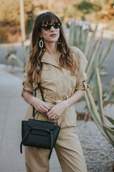 If you can't tell, I love a good jumpsuit! Especially when it's affordable, like this Who What Wear Collection jumpsuit from their recent collection. Celine Nano Bag, Celine Belt Bag, Womens Fashion Online, Latest Fashion For Women, Waist Purse, Celine Handbags, French Girl Style, Fall Jeans, Trendy Swimwear