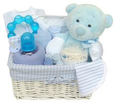 Buy Newborn Baby Boy Blue Gift Basket Gifts for children in Slough United Kingdom — from Labours Of Love Baby Gifts, Company in catalog Allbiz!