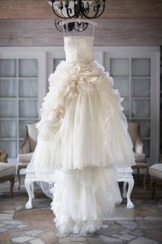 Ruffled wedding dress: http://www.stylemepretty.com/california-weddings/2014/12/15/elegant-spring-malibu-wedding/ | Photography: Catherine Hall Studios - http://catherinehallstudios.com/