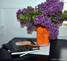 Easy to make pencil vase great for teacher appreciation week! #diy #teacherappreciation