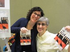 Len Vlahos with Christine Onorati of WORD Bookstores in Brooklyn and Jersey City at signing for The Scar Boys in Seattle, WA. January 2014.