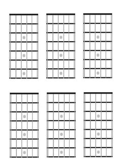 bass fretboard diagram blank