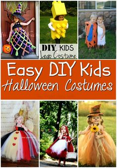 The top DIY Halloween Costume Ideas for Kids. Super cute and easy to make!