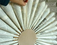 book page wreath tutorial to match fall banner