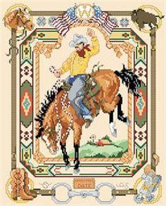 Western Classic Cross Stitch Pattern (1286) Embroidery Patterns by Kooler Design Studio