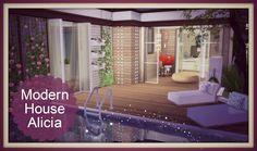 Sims 4 - Building on Newcrest Modern House - Dinha