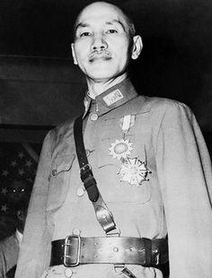 China's former US-backed military dictator - Generalissimo Jiang Jieshi (a.k.a. Chiang Kai-shek)