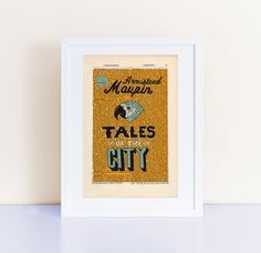 Tales of the City by Armistead Maupin Print on an antique