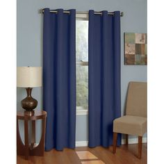 Eclipse Curtains Microfiber Grommet Window Curtain Single Panel | Wayfair