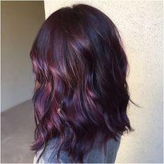plum purple highlights hair - Google Search