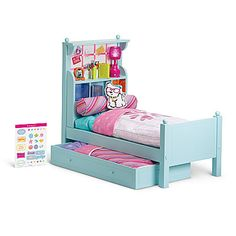 american girl furniture bouquet bed bedding love owning this - Beds For American Girl Dolls