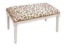 "Ollie 32"" Bench, Caramel Leopard Living Room Bench, Living Room Furniture, Dining Room, Luxury Furniture, Furniture Design, Studio Furniture, Furniture Ideas, Trestle Dining Tables, Wood Bedroom"