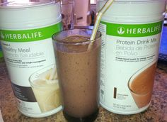 Mudslide Herbalife shake- Cookies and Cream  F1, Chocolate Protein, 1/2 T coffee ground, 1 tsp chocolate pudding mix, 1c water,1 c ice and blend