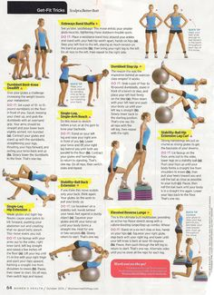 I especially love the Stability Ball Hip Extension Leg Curl in this set! Talk about a burner!