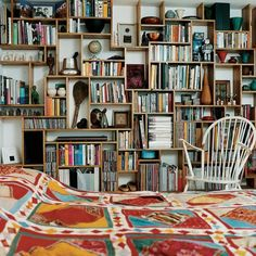 More Bookshelves | FROM THE RIGHT BANK -- if only I were this creative!