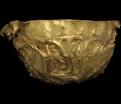TheGold bowl from Tepe Fullol, 2200–1900 BC This fragment was part of a large group of gold and silver vessels found at Tepe Fullol in northern Afghanistan. Its discovery in 1965 suddenly revealed new evidence for the early antiquity of the region. The design on it resembles that of bulls shown in ancient Mesopotamian art – the two regions were connected by trade.