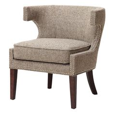 Madison Park Contemporary Cutout Arm Chair in Grey | Nebraska Furniture Mart