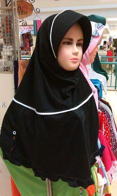 Jilbab Anak Orleans Kid Hitam (Black)