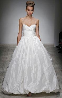 Ball Gown Sweetheart Long Taffeta Wedding Dress