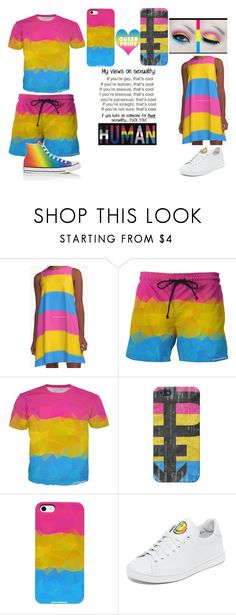 """""""PANSEXUAL PRIDE"""" by asia-ptv-sws-bvb ❤ liked on Polyvore featuring Joshua's, Converse, pridemonth, Pansexual and pansexualpride"""
