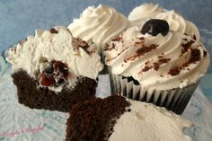 Muffin & Cupcakes Archives – Fragole e Vaniglia Black Forest Cupcakes, Marshmallow Cake, Cheesecake Cupcakes, Cupcake Frosting, Mini Cheesecakes, Confectionery, Cooking Time, Sweet Recipes, Muffins