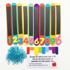 Apple Busy Bag Activity Kit Numbers to 10 Kids by FlyingSprout