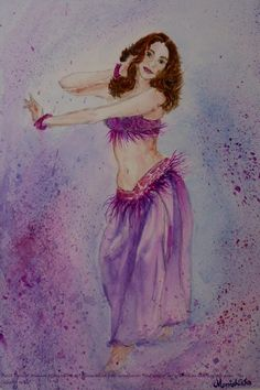 Belly Dancer - Painting by Monishikha Roy-Choudhury in Watercolours Online at touchtalent 71179