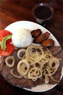 Bistec Encebollado-Cubed Steak Onions Cooking Oil Adobo Meat Tenderizer Black Pepper