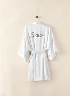 The perfect robe for getting ready.