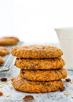 These Eggless Oat Breakfast Cookies are soft, loaded with nutrients and great textures. They're a deliciously healthy way to start off the day. https://mommyshomecooking.com
