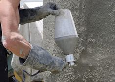 My very simple and inexpensive home made mortar sprayer has served me well until lately, when it started clogging every few minutes. I thi. Concrete Sculpture, Concrete Cement, Papercrete, Diy Projects To Try, Bonsai, Burlap, Renaissance, Homemade, Fabric